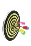 Darts on Dart Board Royalty Free Stock Images