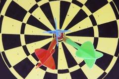 Darts on Dart Board Royalty Free Stock Photography