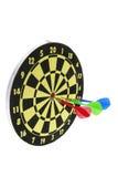 Darts on Dart Board Royalty Free Stock Photos