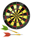 Darts with dart board game. Illustration vector illustration