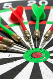Darts on the dart board Royalty Free Stock Photos