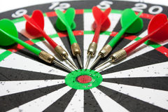 Darts on the dart board Royalty Free Stock Images