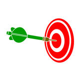 Darts dart in a target Royalty Free Stock Images