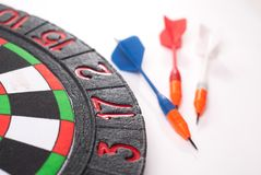 Darts and dart for throwing. On a white background Stock Images