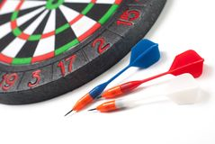 Darts and dart for throwing. On a white background Stock Photo