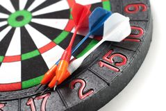 Darts and dart for throwing. On a white background Royalty Free Stock Photos