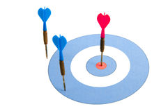 Darts on a dartboard Royalty Free Stock Images