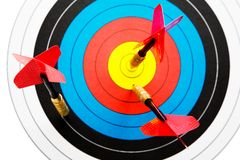 Darts and dartboard Royalty Free Stock Photography