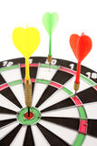 Darts in dartboard Royalty Free Stock Photos