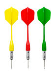 Darts of different colors Stock Images