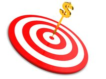 Darts and dollar Royalty Free Stock Images