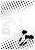 Darts dots poster background Stock Image