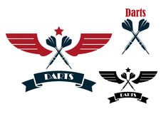 Darts emblems and symbols Stock Image