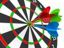 darts Esfera 3d diferente Imagem de Stock Royalty Free