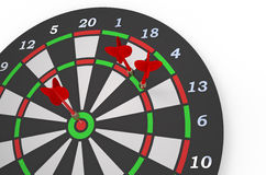 Darts 2. Darts game with dartboard and color arrows isolated on white background Royalty Free Stock Photos