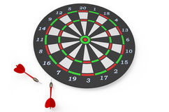 Darts 4. Darts game with dartboard and color arrows isolated on white background Stock Photo