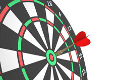 Darts 3. Darts game with dartboard and color arrows isolated on white background Stock Photos