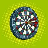 Darts game pop art style vector illustration. Darts game pop art hand drawn vector illustration stock illustration
