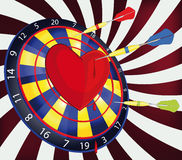 Darts and heart Stock Photo