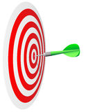 Dart's  hit the bull's eye Royalty Free Stock Images
