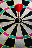 Darts hit the target in bull Stock Images