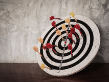 Darts hit target on dartboard Royalty Free Stock Image
