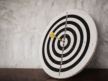 Darts hit target on dartboard Stock Photography