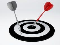 Darts hit target.  white Royalty Free Stock Photography
