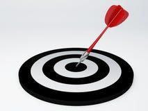 Darts hit target.  white Stock Photography