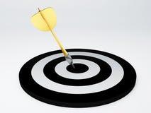 Darts hit target.  white Stock Photos