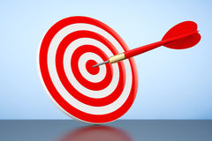 Darts Hitting The Target Royalty Free Stock Photography
