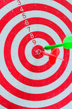 Darts hitting a target royalty free stock images