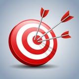 Darts Hitting A Target Royalty Free Stock Photography