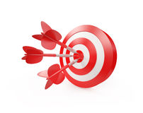 Darts Hitting A Target Stock Photography