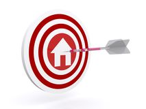 Darts on home target Stock Photography