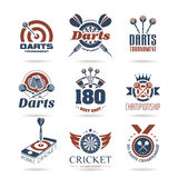 Darts icon set - 3 Royalty Free Stock Photos