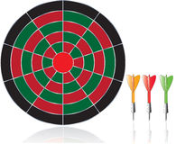 Darts illustration isolated on white background Royalty Free Stock Photography