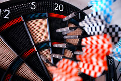 The darts isolated with many arrows on Stock Photography