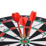Darts isolated on white background Royalty Free Stock Image
