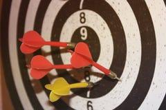 darts Jogo do close up fotografia de stock royalty free