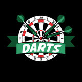 Darts label. Badge Logo sporting symbols Stock Photos