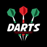Darts label. Badge Logo sporting symbols Royalty Free Stock Photo