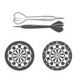 Darts label, badge, logo stock illustration