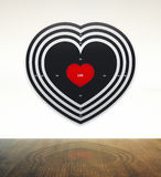 Darts love with wood table Stock Images