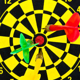 Darts miss the target. Royalty Free Stock Photos
