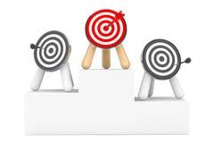 Darts over Winner Pedestal Stock Photography