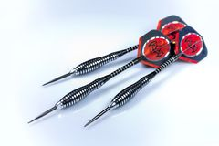 Darts... ready for the bullseye! Stock Photos