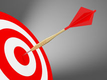 Darts on the red target Stock Images