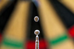 Darts refraction Stock Image