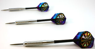 Darts, set of 3 horizontal Stock Photography